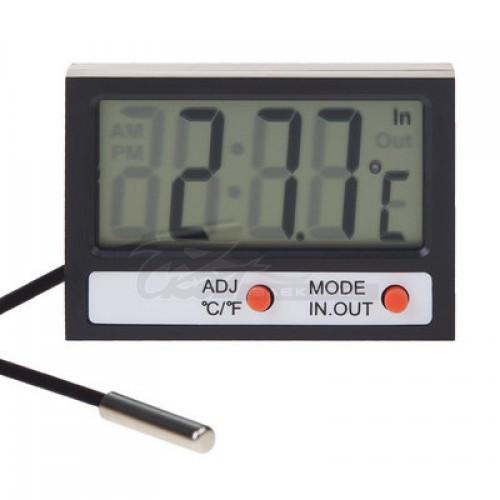 Термометр REXANT комнатно-уличный с часами