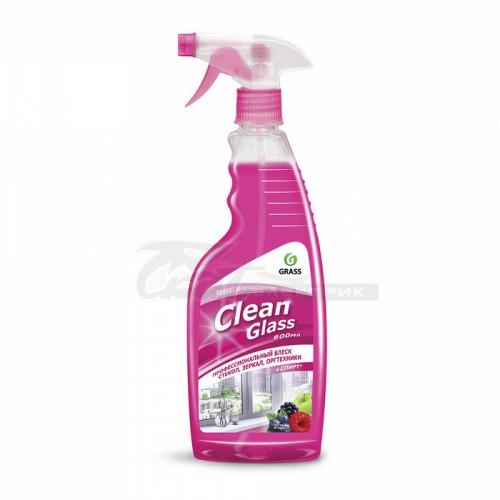 """Чистящее средство для стекол и зеркал """"Clean Glass"""" лесные ягоды (флакон 600мл с триггером)"""