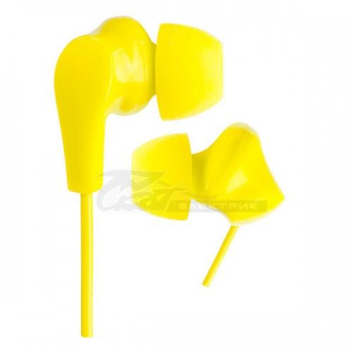 Наушники Perfeo NOVA внутриканальные желтые