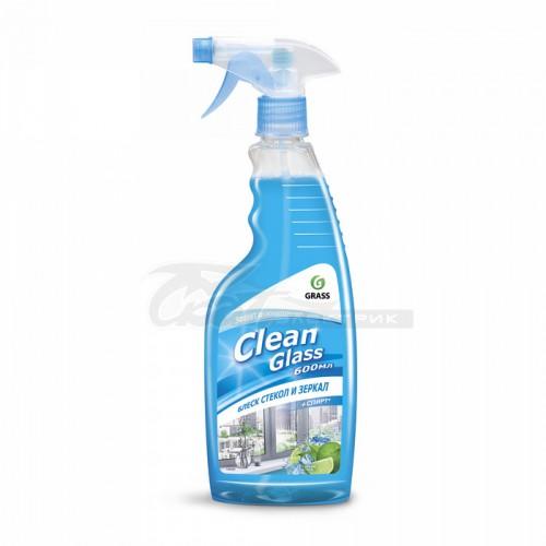 """Чистящее средство для стекол и зеркал """"Clean Glass"""" голубая лагуна (флакон 600мл с триггером)"""