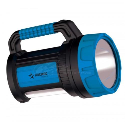 Фонарь Космос 9107W 7Вт прожектор + 10Вт кемпинг, USB выход (АКБ 4 А/ч)