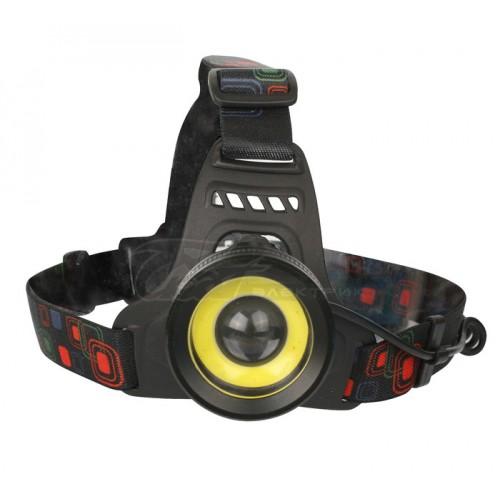 Фонарь налобный Ultraflash E1335 4Вт+COB 2Вт, 2*18650, фокус