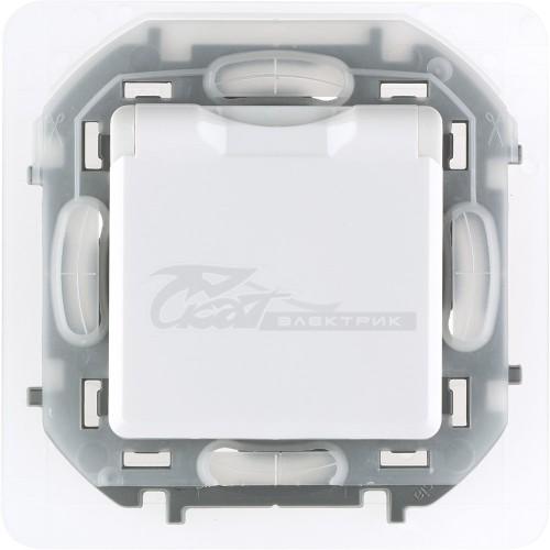 Розетка 1м с/з, з/щ + крышка 16А белый Legrand INSPIRIA IP44