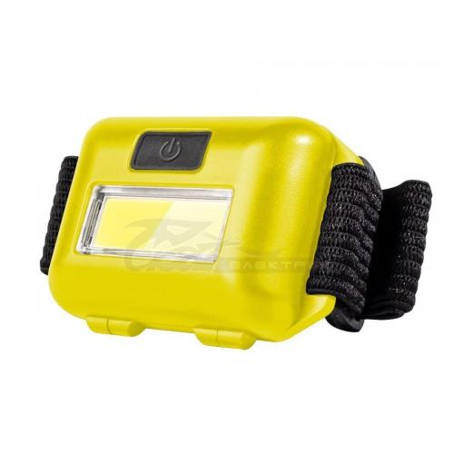 Фонарь налобный ФAZA(CP) H01-02 3*ААА LED 1W COB желтый