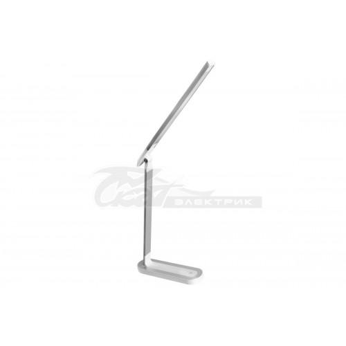 Светильник настольный KD-845 серебро+белый LED 8.5w 3/4,5/6000K сенсорная регул. яркости