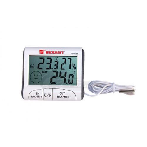 Термогигрометр цифровой комнатно-уличный REXANT